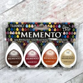 Pack De Tintas Memento 4 Colores ( Marrón, Granate, Naranja, Beige)