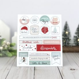 Gigietmoi, Chipboards Adhesivos , Christmas Wish.